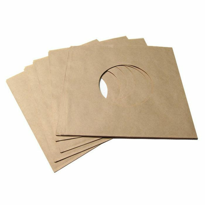 BAGS UNLIMITED - Bags Unlimited 7'' Brown Paper Record Sleeves (2 holes needs no inner sleeve, pack of 25)