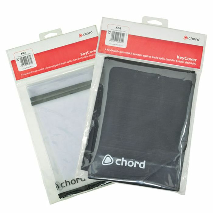 CHORD - Chord Keycover KC4 MKII Keyboard Cover (black, fits 4-5 octave keyboards)