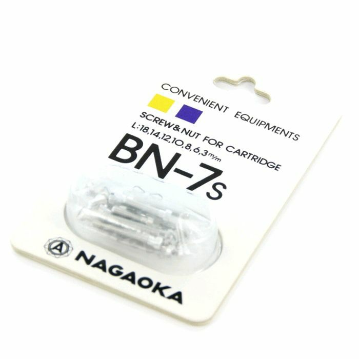 NAGAOKA - Nagaoka BN7S Cartridge Mounting Screws (silver)