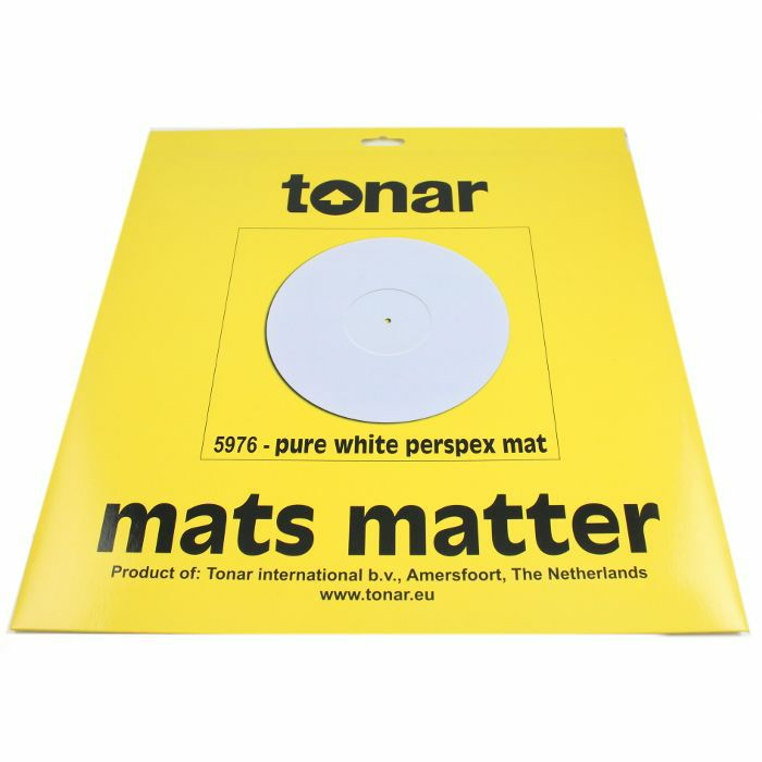 TONAR - Tonar Pure White Perspex Turntable Mat (295mm diameter)