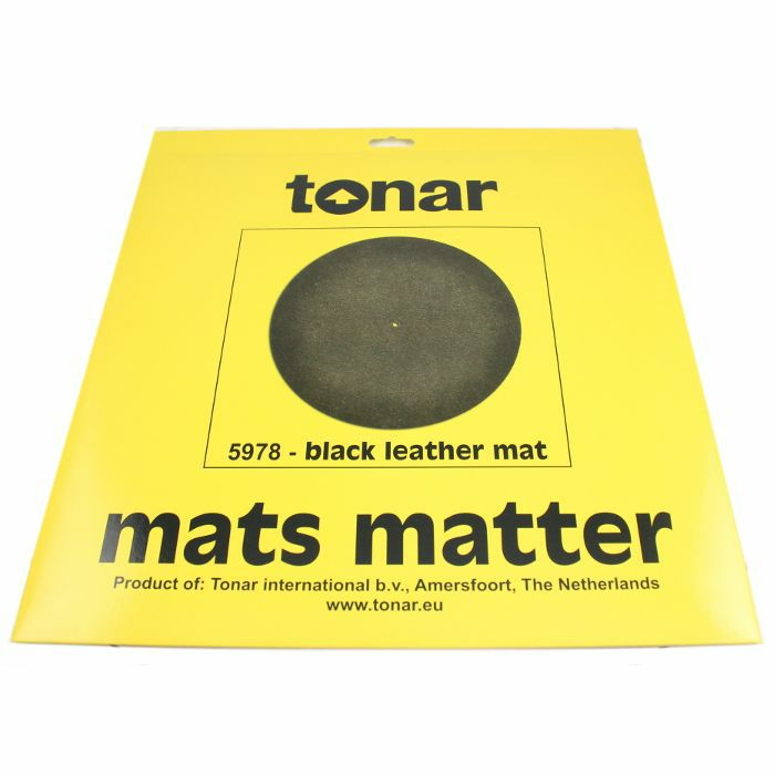 TONAR - Tonar Black Leather Turntable Mat