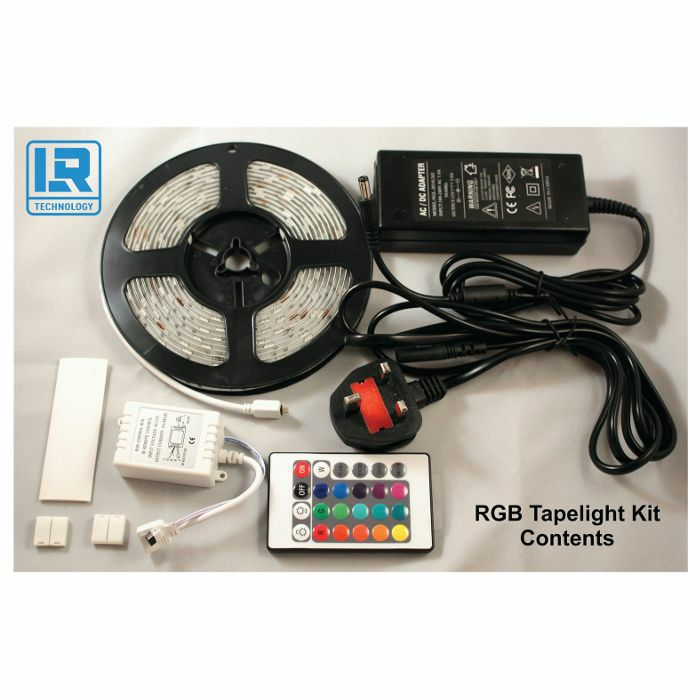 LR TECHNOLOGY - LR Technology RGB LED Tape Light Kit (5m)