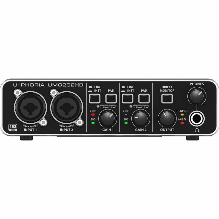 BEHRINGER - Behringer UPhoria UMC202HD Audiophile USB Audio Interface With Tracktion 4 Software