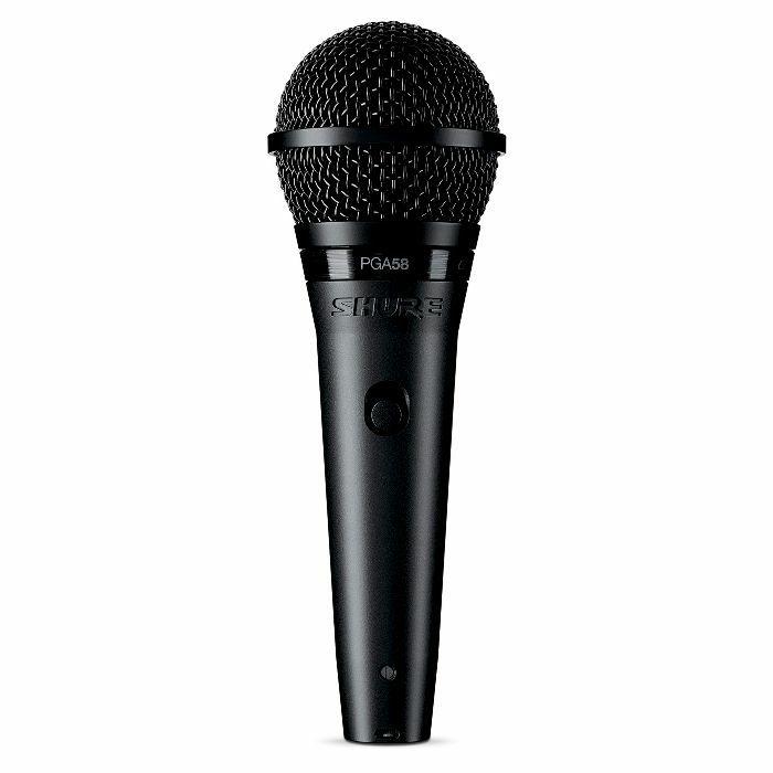 SHURE - Shure PGA58 XLR Cardioid Dynamic Vocal Microphone (black)