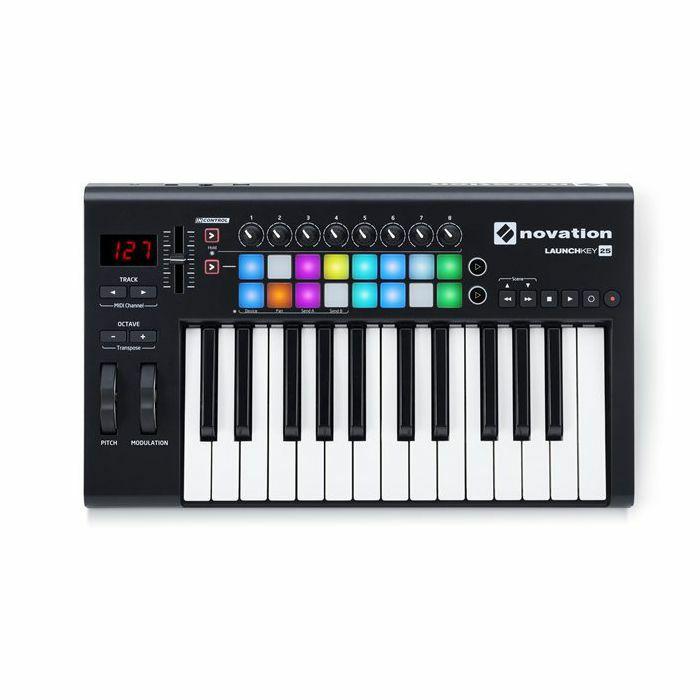 NOVATION - Novation Launchkey 25 MK2 Keyboard Controller With Ableton Live Lite Software