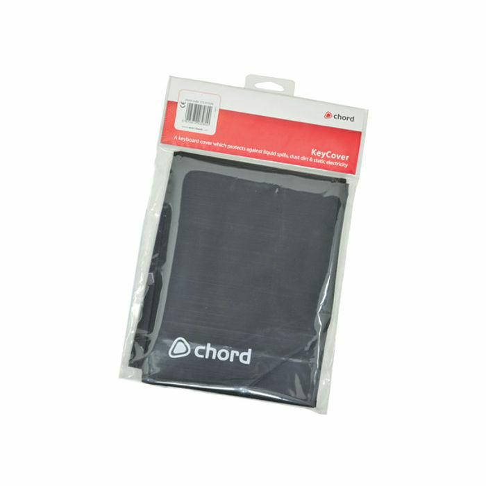 CHORD - Chord Keycover KC8 MKII Keyboard Cover (black, fits 7.25 octave keyboards)