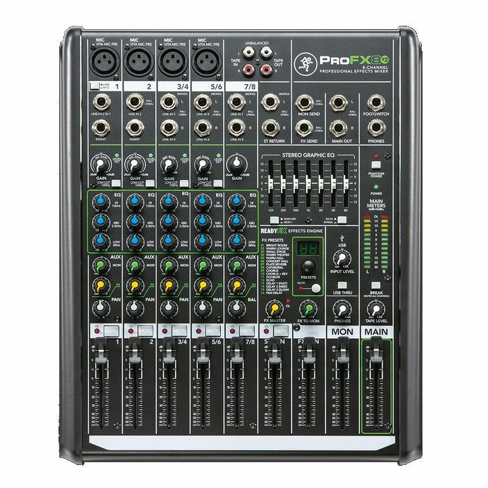 MACKIE - Mackie Pro FX8 v2 Mixer With Built In Effects & Tracktion Recording Software