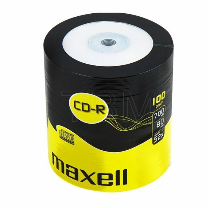 MAXELL - Maxell CDR80 700MB Blank Discs (pack of 100)