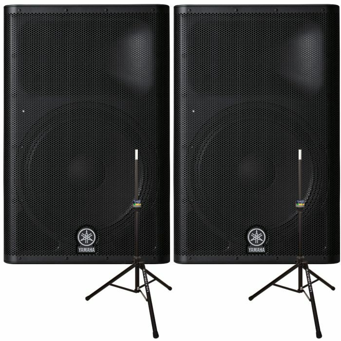 yamaha ultimate support yamaha dxr15 powered pa speakers pair free ultimate support ts 90b. Black Bedroom Furniture Sets. Home Design Ideas