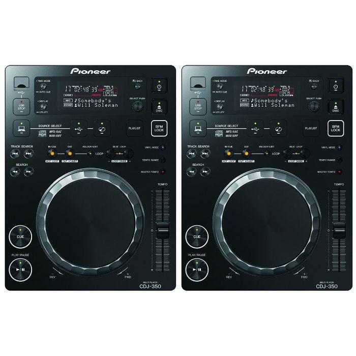 PIONEER - Pioneer CDJ350 Digital Multi CD USB Players (pair, black)