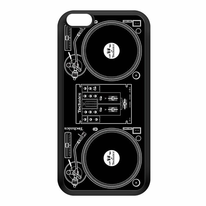 DMC - Technics Classic Turntables iPhone 6 Plus Cover (black/white)