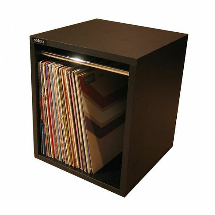 Sefour sefour vinyl record carry box small tobacco for Record case ikea