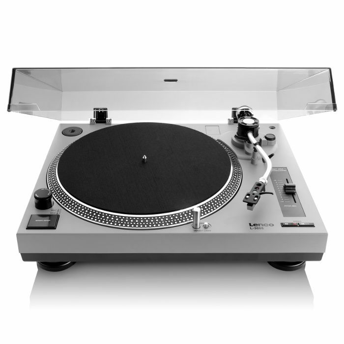 LENCO - Lenco L3808 Vari Speed USB Turntable (grey)