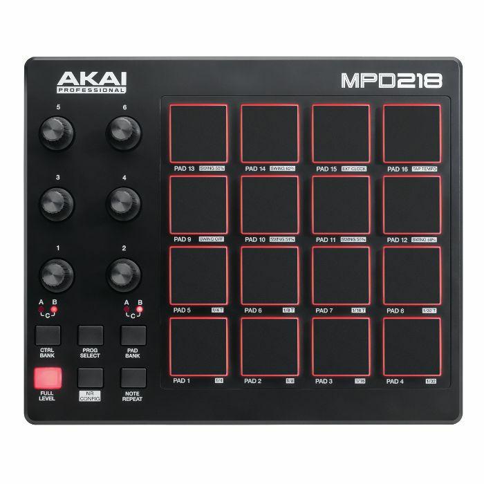 AKAI - Akai MPD218 USB MIDI Pad Controller With Ableton Live Lite