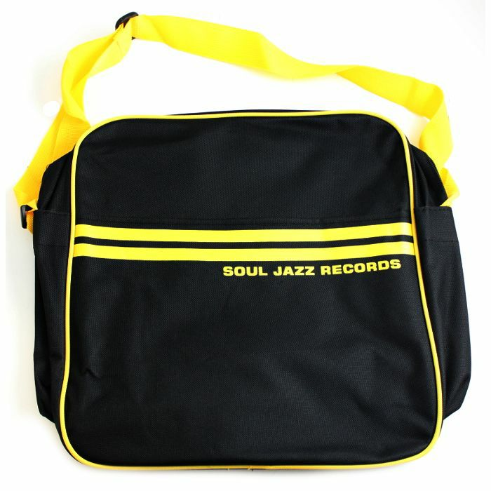 SOUL JAZZ - Soul Jazz 12 Inch Record Bag (black & yellow)