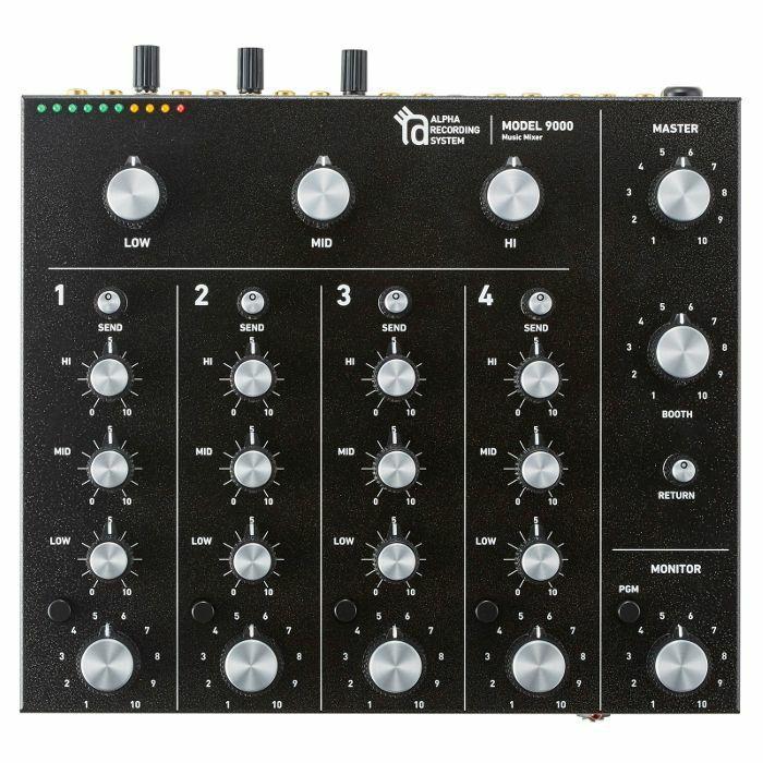 ALPHA RECORDING SYSTEM - Alpha Recording System ARS Model 9000 Rotary Tabletop DJ Mixer (black)