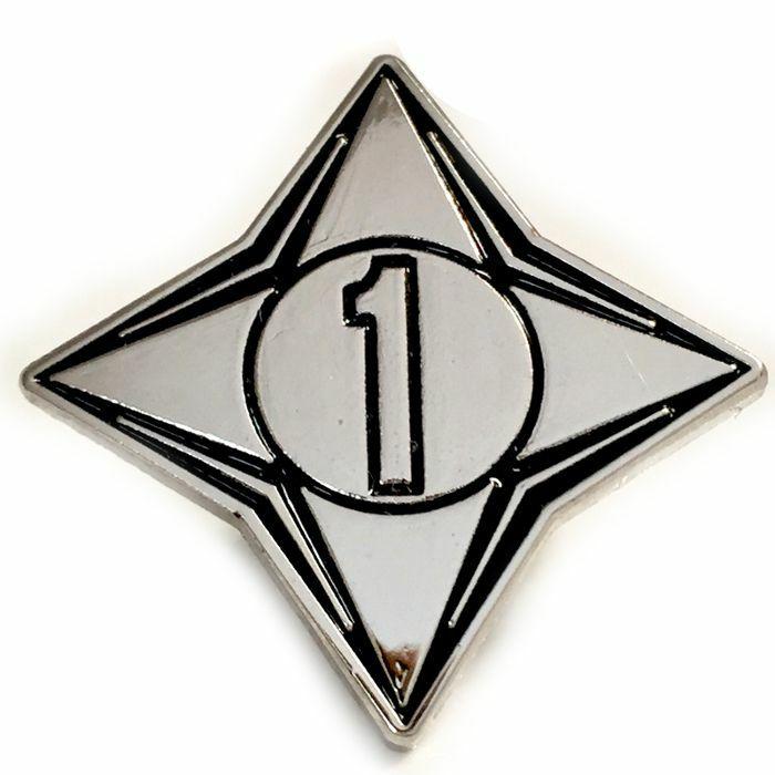 CHANNEL 1 - Channel 1 Enamel Pin Badge (silver & black)