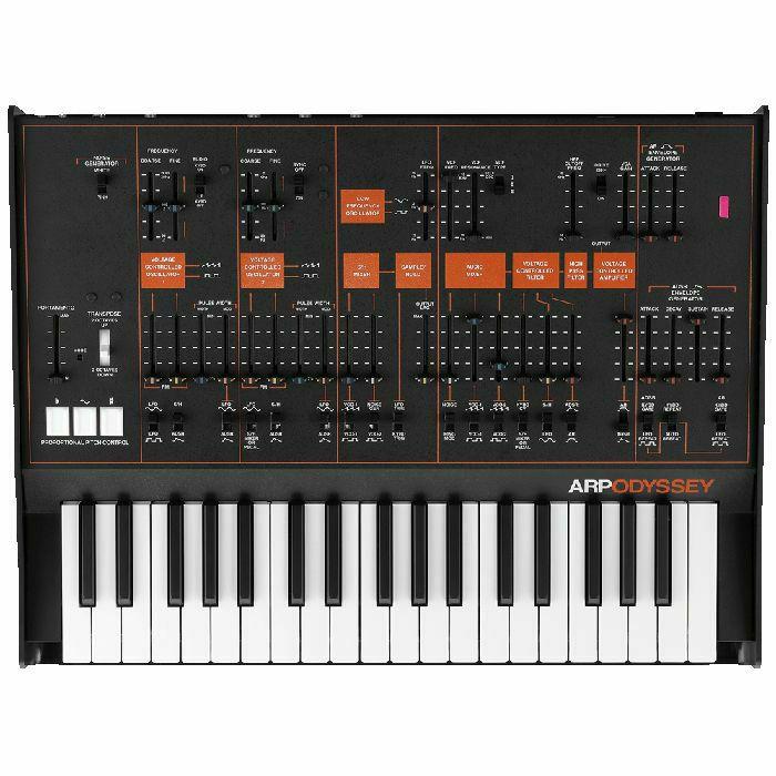ARP - ARP Odyssey Duophonic Analog Synthesizer (Rev.3, black & orange) (B-STOCK)