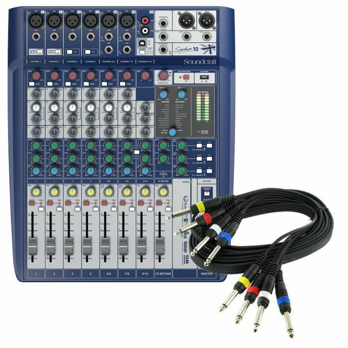 SOUNDCRAFT - Soundcraft Signature 10 Analog Mixer With Onboard Effects + 4 Way 1/4