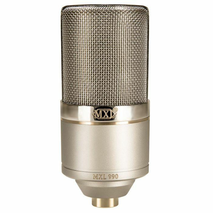 mxl mxl 990 he condenser microphone with shockmount hardcase heritage edition vinyl at juno. Black Bedroom Furniture Sets. Home Design Ideas