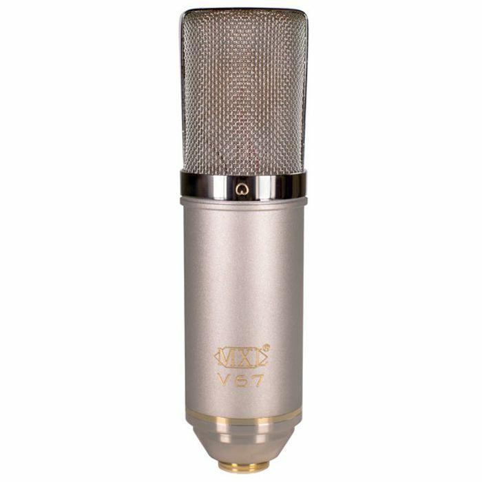 MXL - MXL V67G HE Large Diaphragm Condenser Microphone With Shockmount & Hardcase (Heritage Edition)