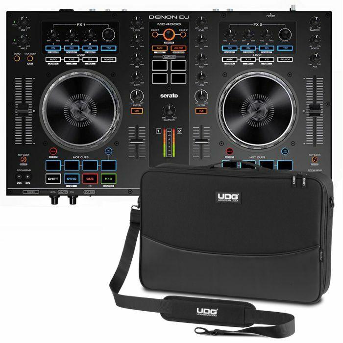 DENON DJ/UDG - Denon DJ MC4000 Serato DJ Controller With Serato DJ Intro Software + UDG Controller Sleeve (black) (SPECIAL LOW PRICE BUNDLE)