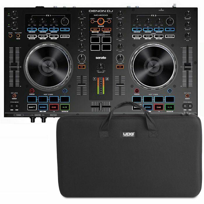 DENON DJ/UDG - Denon DJ MC4000 Serato DJ Controller With Serato DJ Intro Software + UDG Hardcase (black) (SPECIAL LOW PRICE BUNDLE)