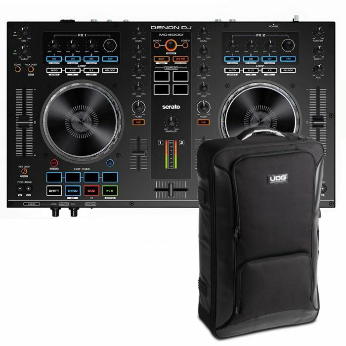 DENON DJ/UDG - Denon DJ MC4000 Serato DJ Controller With Serato DJ Intro Software + UDG Backpack (black) (SPECIAL LOW PRICE BUNDLE)