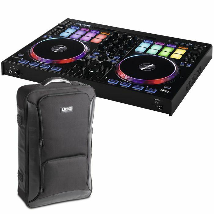 RELOOP/UDG - Reloop Beatpad 2 DJ Controller For iOS Android Mac & PC + UDG Backpack (black, medium) (SPECIAL LOW PRICE BUNDLE)