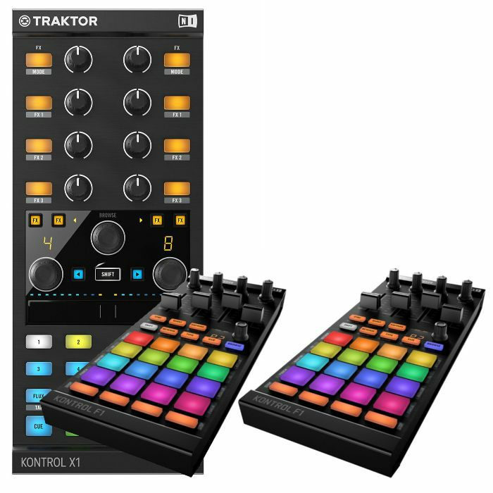NATIVE INSTRUMENTS - Native Instruments Traktor Kontrol X1 MK2 Performance DJ Controller + Pair Of Traktor Kontrol F1 DJ Remix Controllers