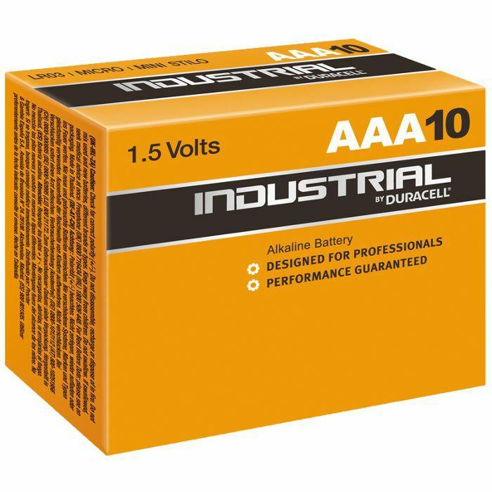 DURACELL - Duracell AAA Industrial Alkaline Batteries (box of 10)
