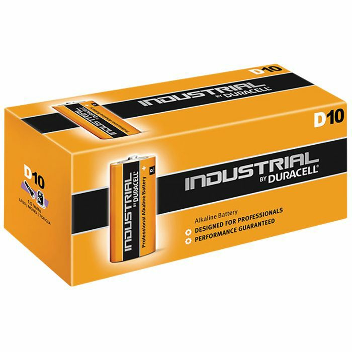 DURACELL - Duracell D Industrial Alkaline Batteries (box of 10)