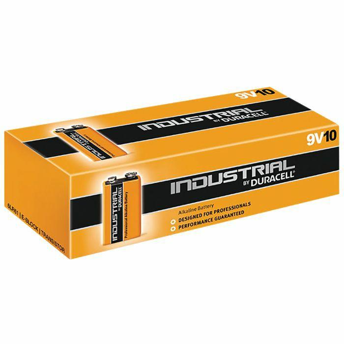 DURACELL - Duracell PP3 9V Industrial Alkaline Batteries (box of 10)