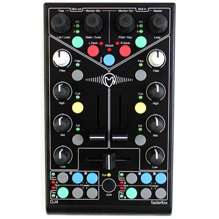 FADERFOX - Faderfox Micromodul DJ4 USB DJ MIDI Controller