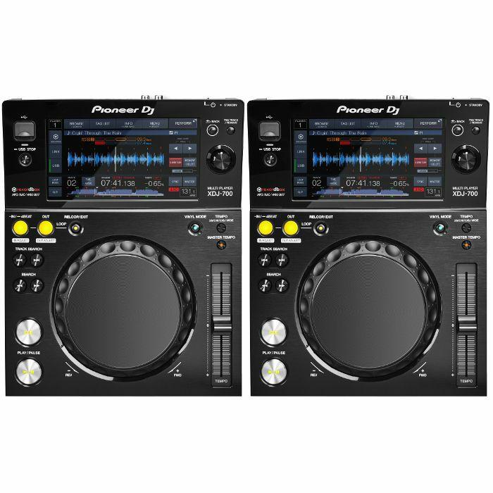 PIONEER - Pioneer XDJ700 Rekordbox Compatible Compact Digital Decks (pair)