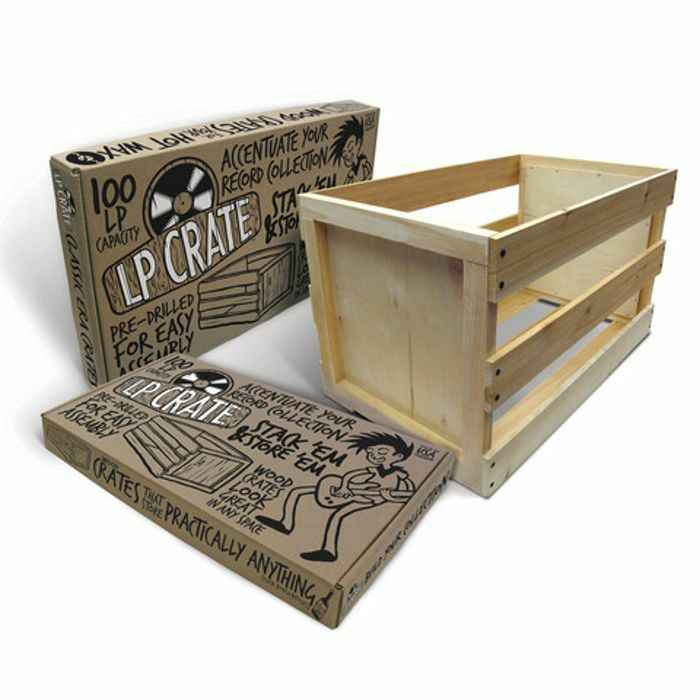 CRATE FARM   Crate Farm KTPF1223 100 12 Inch LP Wooden Vinyl Storage Crate  (self