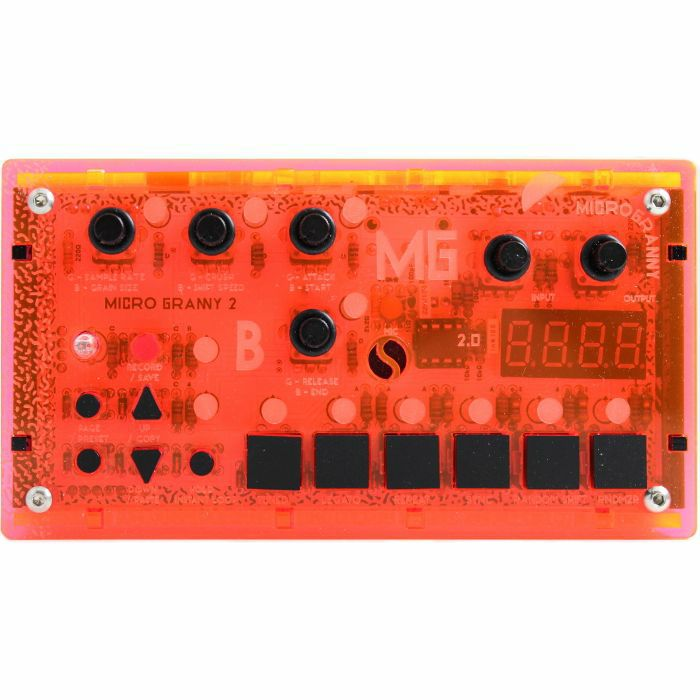 BASTL INSTRUMENTS - Bastl Instruments microGranny 2.5 Monophonic Granular Sampler (distant raver, UV red)
