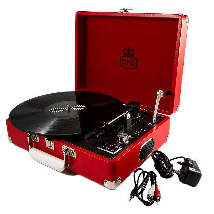 GPO - GPO Attache USB Turntable With USB Stick Included (pillarbox red) (B-STOCK)