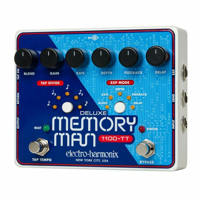 ELECTRO HARMONIX - Electro Harmonix Deluxe Memory Man Tap Tempo 1100 Analog Delay Pedal