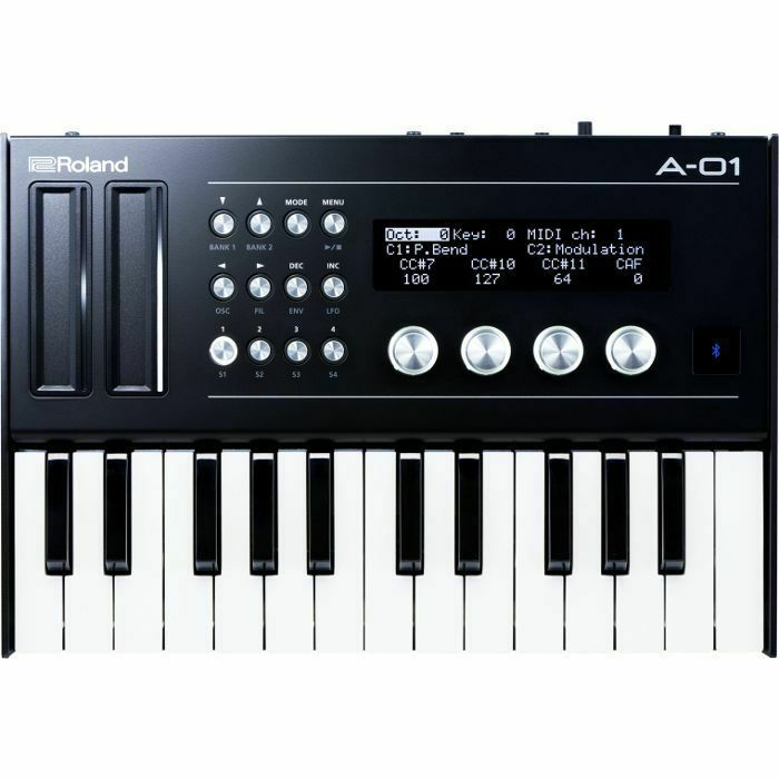 roland a01k midi cv gate controller  u0026 sound module with k25m keyboard unit