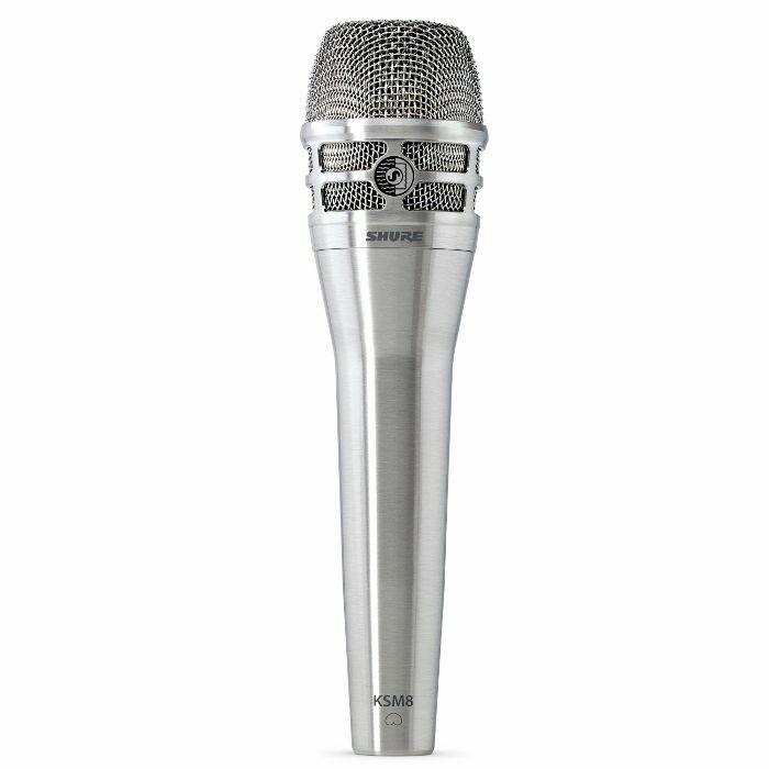 SHURE - Shure KSM8 Dualdyne Cardioid Dual Diaphragm Handheld Vocal Microphone (nickel)