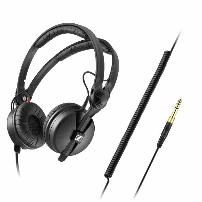 SENNHEISER - Sennheiser HD25 Plus Headphones With 3m Coiled Cable (includes 1.5m straight cable, replacement ear cushions & protective pouch)