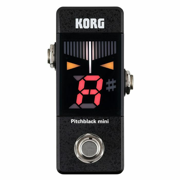 korg korg pitchblack mini tuner pedal black vinyl at juno records. Black Bedroom Furniture Sets. Home Design Ideas