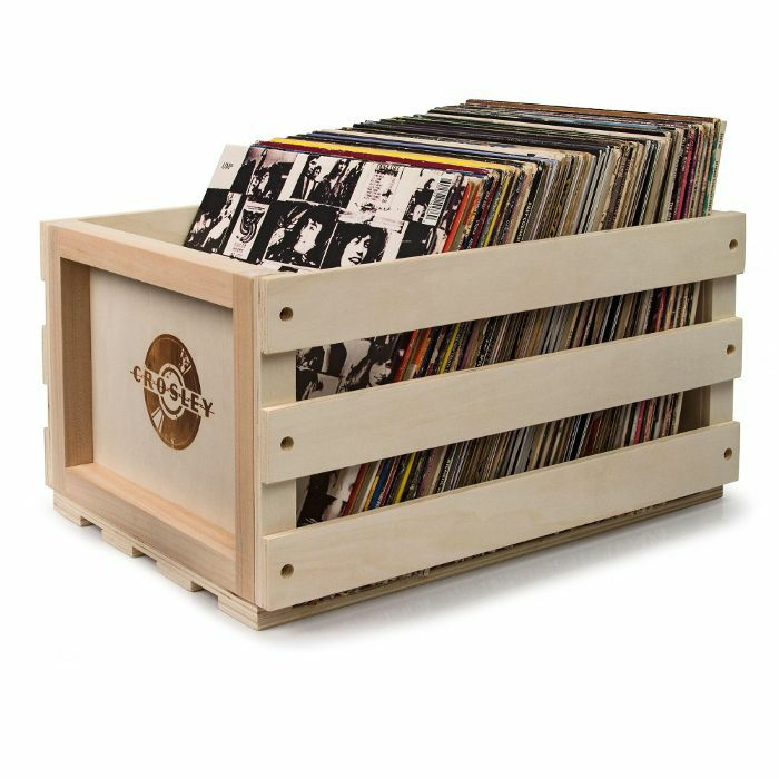 crosley crosley ac1004a 12 inch lp vinyl record storage crate natural wood vinyl at juno records. Black Bedroom Furniture Sets. Home Design Ideas