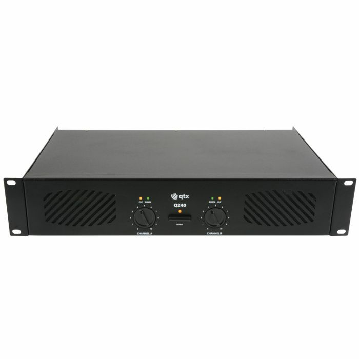 QTX - QTX Q240 Stereo PA Power Amplifier (2 x 120W)