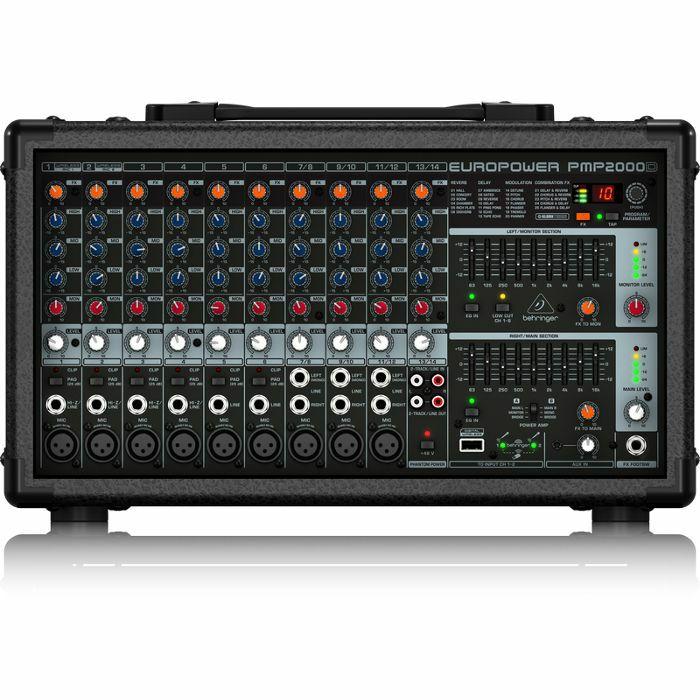 BEHRINGER - Behringer PMP2000D 2000 Watt 14 Channel Powered Mixer