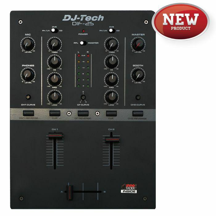 DJ TECH - DJ Tech DIF2S 2 Channel DJ Scratch Mixer (black)