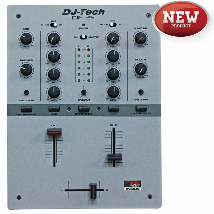 DJ TECH - DJ Tech DIF2S 2 Channel DJ Scratch Mixer (grey)