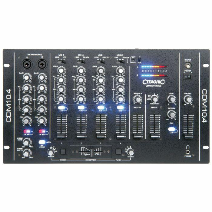 CITRONIC - Citronic CDM104 MK5 4 Channel USB DJ Mixer