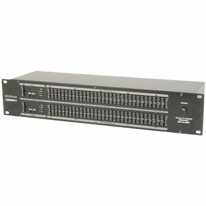 CITRONIC - Citronic CEQ231 Dual 31 Band Graphic EQ Rack Unit